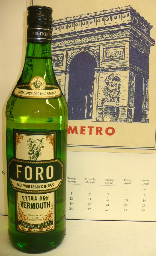 JUST IN: FORO EXTRA DRY VERMOUTH made with ALL ORGANIC grapes